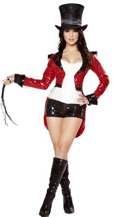 Sexy Circus Costumes, Sexy Ringmaster Costumes, Sexy Adult Costumes, Adult Halloween Costumes