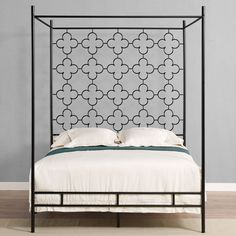quatrafoil queen canopy bed overstock shopping great deals on beds