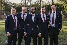 KIMMI + JAS // #wedding #groom #groomsmen #bestman #suit #tie #bowtie #navy…
