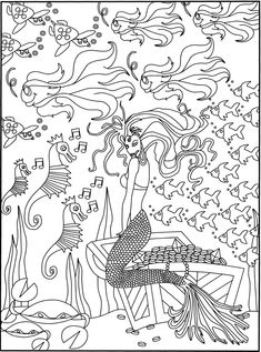 SPARK Fancy Fish Coloring Book Dover Publications
