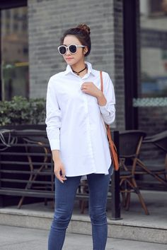 Gender: Women Decoration: Button Clothing Length: Long Pattern Type: Solid Sleeve Style: Regular Style: Casual Fabric Type: Broadcloth Material: Cotton,Acetate Collar: Square Collar Sleeve Length: Ful