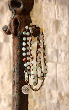 Petite Amazonite TripleWrap Bracelet or by HappyGoLuckyJewels, $48.00