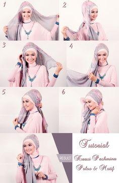 How to wear pashmina Hijab!