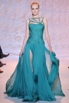Zuhair Murad | Fall/Winter 2014 Couture Collection (Look 37 of 47) | Modeled by Hannare Blaauboer | July 10, 2014; Paris, France