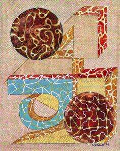 Titolo- Aids conto alla rovescia Tecnica mista su tela. mis. 24x30