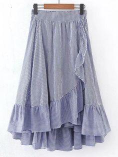Модная юбка со сборкой и эластичной талией