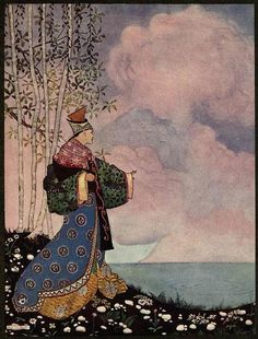 Illustration by Thomas Mackenzie from Aladdin and his Wonderful Lamp in Rhyme by Arthur Ransome, 1919