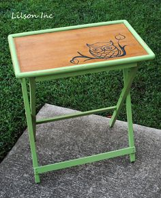 painted tv tray