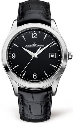 @jlcwatches Master Control Date #add-content #bezel-fixed #bracelet-strap-leather #brand-jaeger-lecoultre #case-depth-8-8mm #case-material-steel #case-width-39mm #date-yes #delivery-timescale-1-2-weeks #dial-colour-black #gender-mens #luxury #movement-au