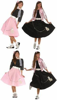 e1e4c903f620 50'S GIRL TEEN COSTUME #poodle #skirt Poodle Skirt Costume, Costumes For  Teens,