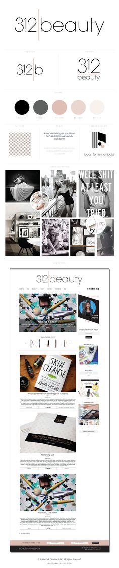 312 Beauty WordPress Blog Design - logo design, wordpress theme, mood board inspiration, blog design idea, graphic design, branding