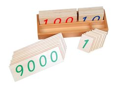 Learning numbers the Montessori way.