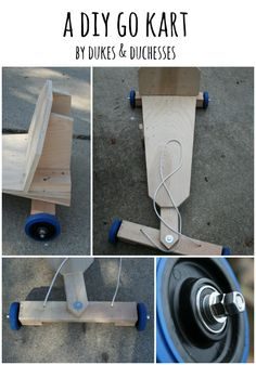 a DIY go kart. How awesome to hand make a special toy like this one!