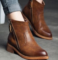 Find More Women's Boots Information about shoes 2015 for woman boots Free shipping autumn fashion ankle leather boots for women thick matte leather double zipper ,High Quality boots velvet,China boot hiking Suppliers, Cheap boots fold from ivan style on Aliexpress.com