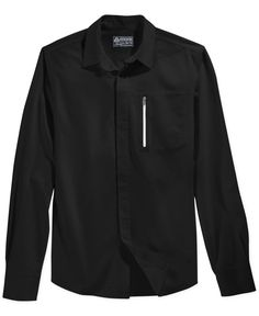 American Rag Hardy Solid Long-Sleeve Shirt