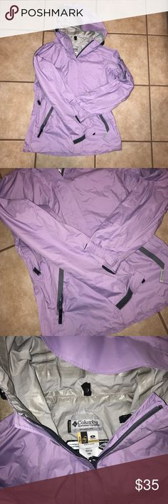 Beautiful purple Columbia jacket Purple packable Columbia Jacket. In like new condition. Columbia Jackets & Coats