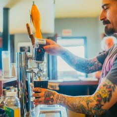 Try a Mothman Black IPA alongside several other West Virginia craft brews on tap at the Blue Moon Cafe in historic Shepherdstown, WV. The food is pretty amazing too! #GoToWV