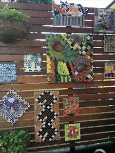 Some of my unique mosaic art-works on my Kara-Mia's Mosaics Gallery wall