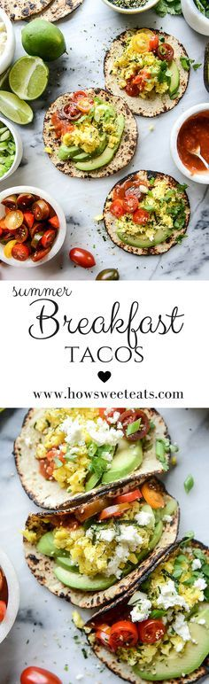 Most favorite Breakfast Tacos ever by @howsweeteats I howsweeteats.com