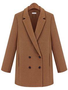 zweireihiger Mantel mit Revers, kamelfarben 35.10