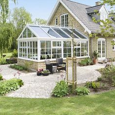 Sun Garden, Dream Garden, French Courtyard, 3 Season Room, House Roof, Home Projects, Future House, Outdoor Gardens, Pergola
