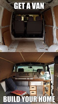 Best Picture For vanlife vw bus For Your Taste You are looking for something, and it is going to tell you exactly what you are looking for, and you didn't find that picture. Cargo Van Conversion, Van Conversion Interior, Camper Van Conversion Diy, Van Interior, Kitchen Interior, Vw Caravan, Bus Camper, Camper Life, Kangoo Camper