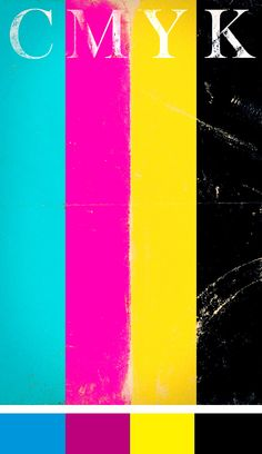 cmyk I Graphic Design Graphic Design Inspiration, Color Inspiration, Typographic Poster, Cool Fonts, Color Theory, Pantone, Posters, Colorful, Album