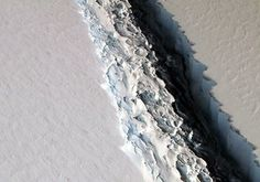 NASA image reveals an expanding rift in the Larsen ice shelf. NASA has recently released an image showcasing the wide rift forming currently in the Larsen Ice Shelf of Antarctica. Researchers believe that this will inevitably lead to its separation as an