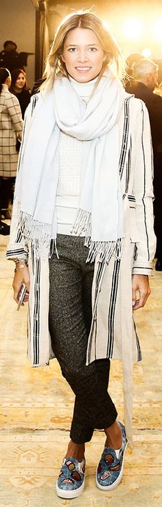 NYFW Front-Row Style: Winter Whites   Tory Daily