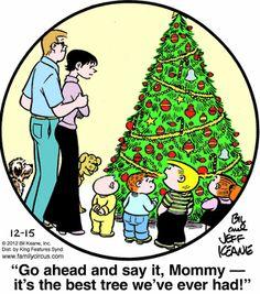Family Circus Cartoon for Dec/15/2012