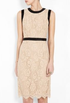 Marcella Bow Shift Sleeveless Lace Dress by Milly