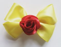 🎀 Beauty and the beast inspired bow. Beauty And The Beast, Bows, Inspired, Tableware, Projects, Inspiration, Beautiful, Home Decor, Tick Insect