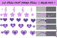 Clip Studio Paint (Manga Studio 5) Brush Pack 9 by Katarina-Kirishiki.deviantart.com on @DeviantArt