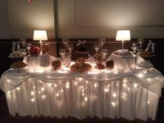 Pittsburgh's Grand Hall at the Priory will create a beautiful cookie display. In Pittsburghs G Cookie Table Wedding, Wedding Cookies, Wedding Desserts, Wedding Table, Wedding Ideas, Christmas Catering, Christmas Party Table, Polar Express Christmas Party, Cookie Buffet