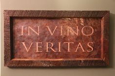 """IN VINO VERITAS (translated: """"In Wine There is Truth"""") Copper Engraving by VetrinaDelVino on Etsy"""