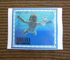 NIRVANA Notecard Nevermind by RecordsAndStuff on Etsy, $4.00