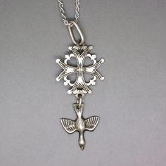 Religious Symbols, Religious Cross, Religious Jewelry, Maltese Cross, Spiritual Gifts, Rope Chain, Coat Of Arms, Cross Pendant, Vintage Antiques