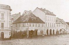 Turnov - západní část náměstí, dnes hotel Korunní princ, před r. 1870