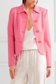 Michael Kors Collection - Stretch-wool Jacket - Pink - US10