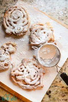 I love making apple fritters, but I always end up with extra batter. And what could be better than tweaking the recipe just a bit and turning the leftovers into amazing miniature funnel cakes? Funnel Cake Recipe:
