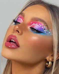 Dope Makeup, Makeup Eye Looks, Eye Makeup Art, Pretty Makeup, Eyeshadow Makeup, Brown Eyeshadow, Colorful Eye Makeup, Colorful Eyeshadow, Bright Makeup