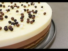 Cake three chocolates step by step Dessert Recipes, Desserts, Flan, No Bake Cake, Cheesecake, Cooking Recipes, Pudding, Cupcakes, Baking