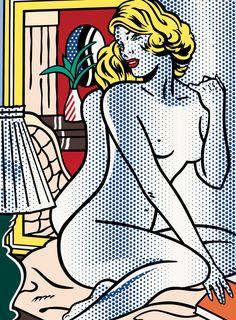 Roy Lichtenstein - Blue Nude, 1995.