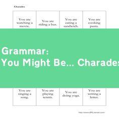 free esl grammar activities to practice using the second