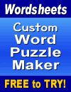 Word Search Generator :: Make your own printable word searches @ A to Z Teacher Stuff