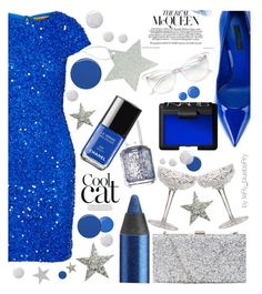 """Brilliant night "" by teryblueberry ❤ liked on Polyvore featuring Alice + Olivia, Urban Decay, Dolce&Gabbana, Essie, Topshop, Baccarat, Burberry, NARS Cosmetics and Wildfox"