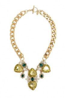 Anton Heunis arge chain four gold gem necklace
