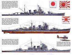 WWII Japanese Navy heavy cruisers
