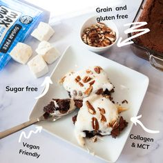 Two moms teaming up to bring you a limited edition box of nutritious goodies sure to please even the pickiest snacker.  Three bags of grain free, gluten free, keto,paleo brownie mix and three bags of keto, paleo, no sugar Max Mallows. Melt these on the brownies for an amazing treat! Better yet, swap out the sweetener in the Boulder Bake bags with Max Mallows (5-6) to keep this delicious dessert ZERO SUGAR. Brain Boosting Foods, Paleo Brownies, Paleo Cookies, Snack Box, Treat Yourself, Grain Free, Sugar Free, Delicious Desserts, Zero
