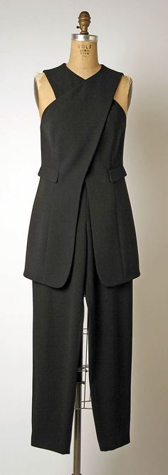 Suit - Giorgio Armani  (Italian, founded 1974). Not a fan of fabric or style of pockets, but like the structure of the top